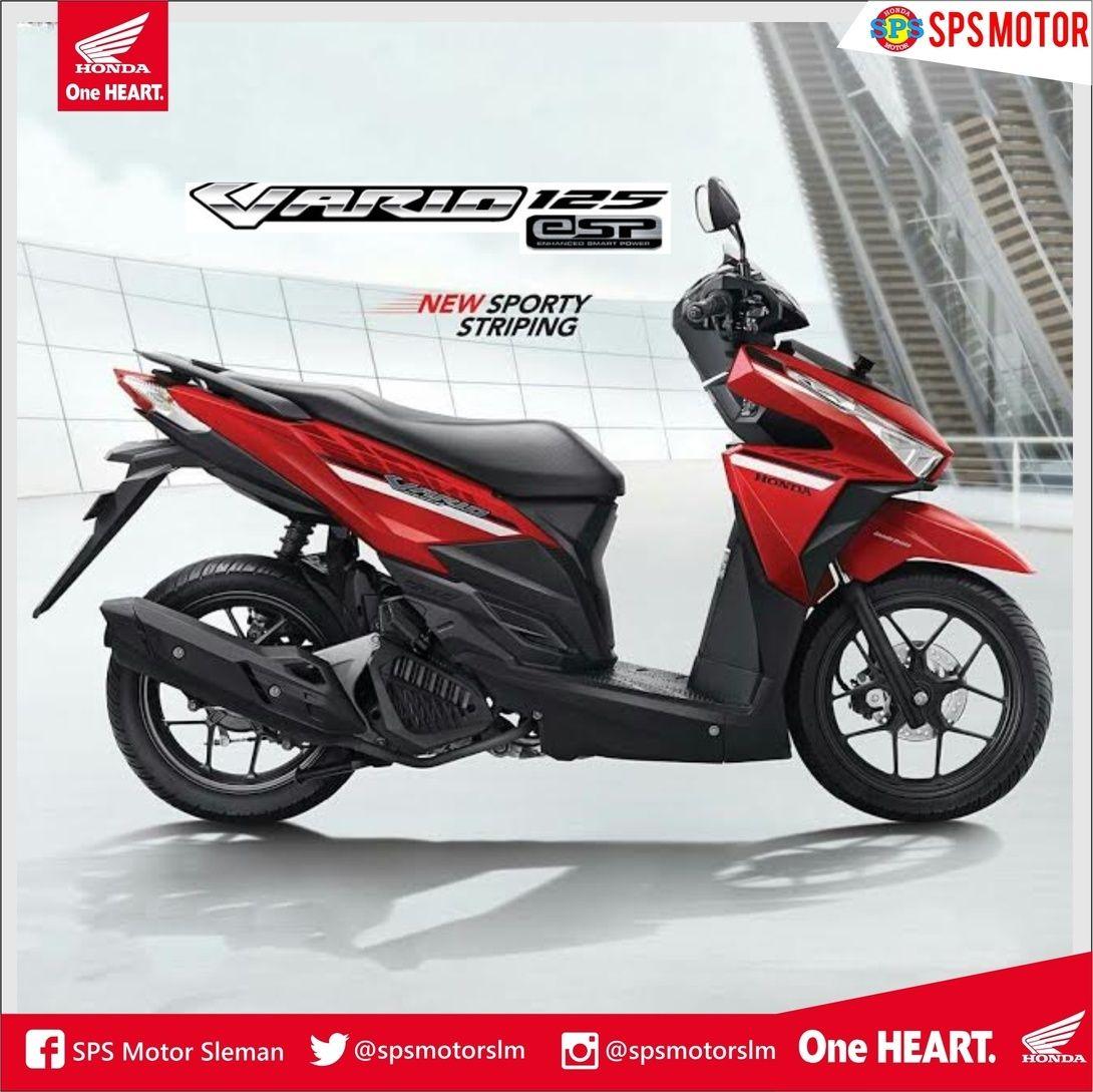 Vario 125 Esp Dengan Striping Baru Yang Lebih Sporty Dirancang Dengan Tampilan Depan Yang Ikonik Bentuk Bodi Dan Sayap Sporti Dengan Honda Sporty Motorcycle