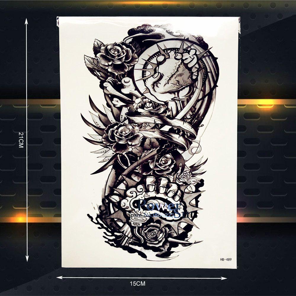 Tattoo ideas for men on arm metal robot arm fake black temporary tattoo men body arm tattoo