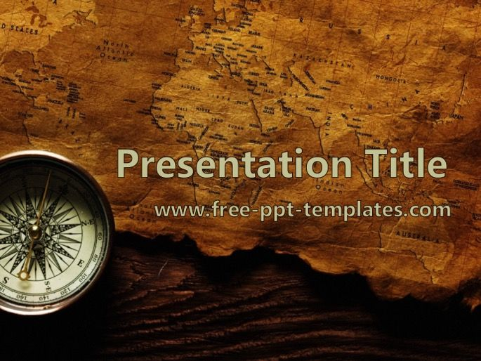 Free Powerpoint Templates Old Map Ppt Template Old Map History Theme Powerpoint Template Free