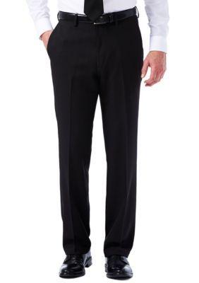 d78a2ec53d Haggar Black Travel Performance Tailored Fit Stria Gabardine Suit Pants