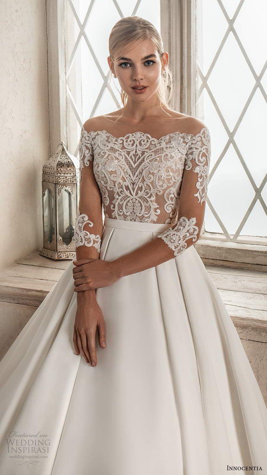 Innocentia 2021 Wedding Dresses Casablanca Bridal Collection Wedding Inspirasi Wedding Dresses Wedding Dress Types Short Lace Wedding Dress [ 1600 x 900 Pixel ]