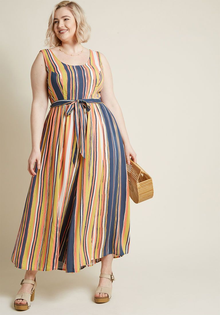 bb77366ffa30 Unbridled Enthusiasm Wide-Leg Jumpsuit in XS by ModCloth