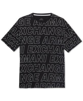 8205cb09 Armani Exchange Men Allover Logo Print T-Shirt   Products   Logos, T ...