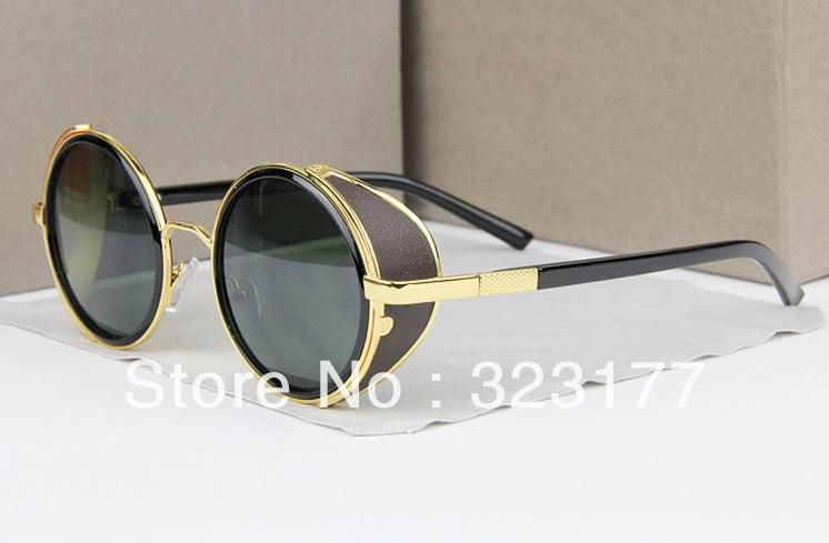 2013 Women Italy Retro Round Circle Sunglasses Fashion Designer Sun Glasses Kasubi Vintage Gold Silver Gafas de sol Free ship $16.00
