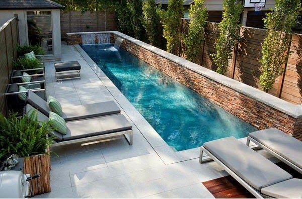 patios pequeños con piscina - Buscar con Google piscinas