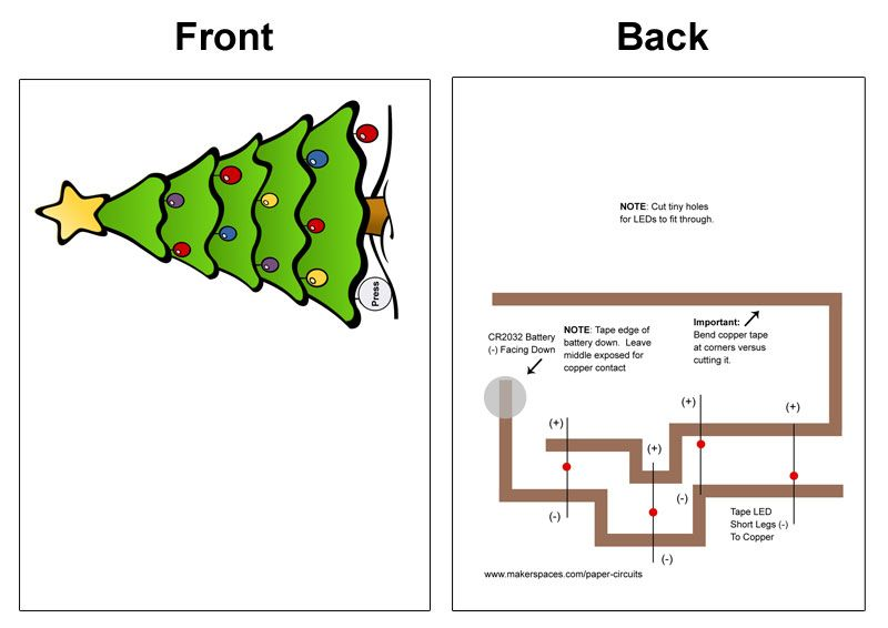 Christmas Light Up Cards W Paper Circuits Stem Makerspace Projects In 2020 Paper Circuits Fun Christmas Cards Halloween Coloring Pages Printable