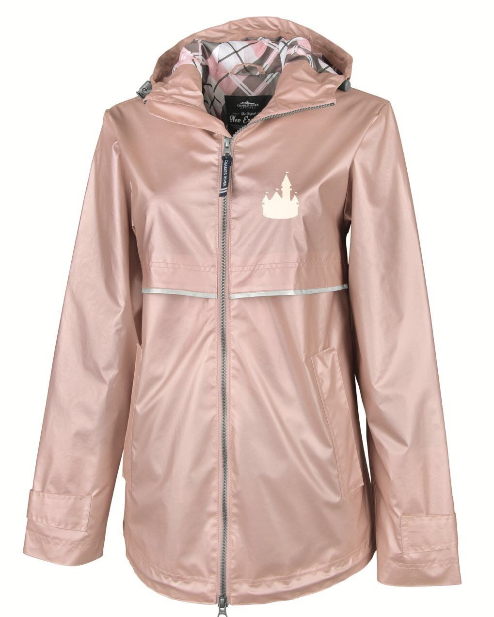 Rose Gold Castle Rain Jacket Limited Edition Monogrammed Rain Jacket Charles River Rain Jacket Rain Jacket