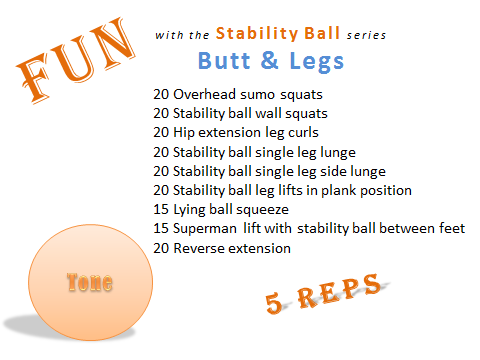 Fun with the Stability ball series Butt & Legs