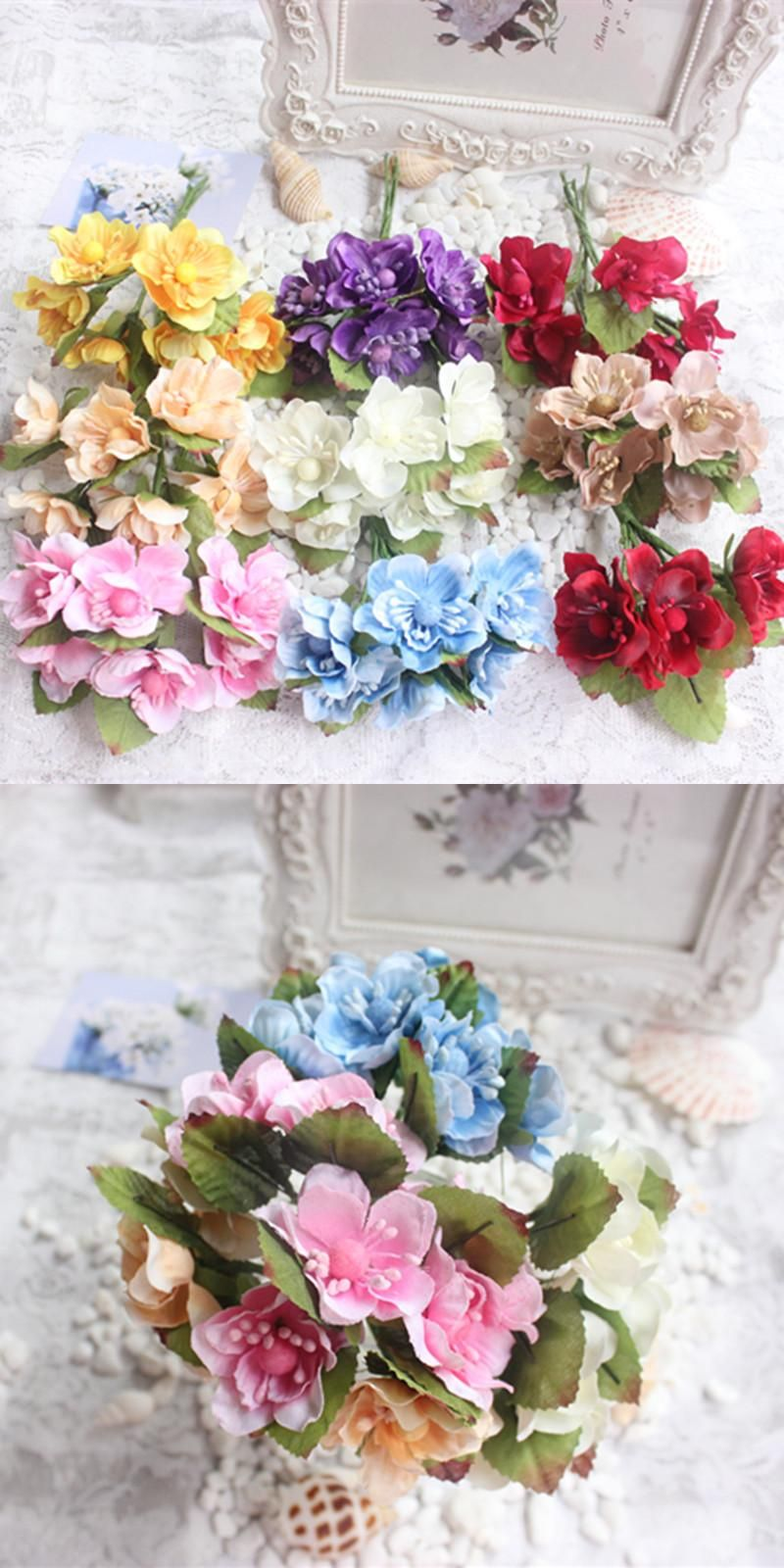 Visit To Buy Free Shipping 9 Colors Artificial Silk Flowers Cherry