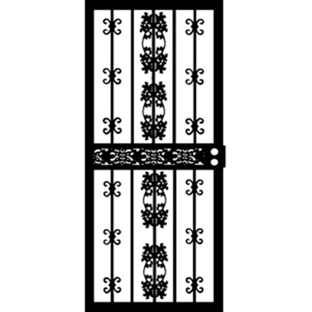 Grisham in x in series black georgia security door