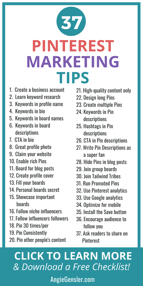 37 Brilliant Pinterest Marketing Tips to Increase