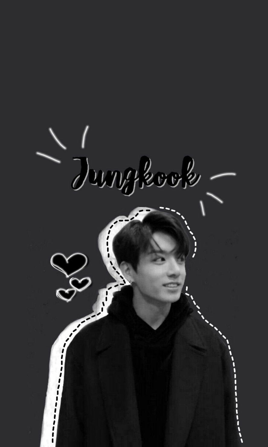 Jungkook Bts Btswallpaper Black White Aesthetic Jungkook Black And White Wallpaper Aesthetic Edit Gambar Gambar Wajah Bts