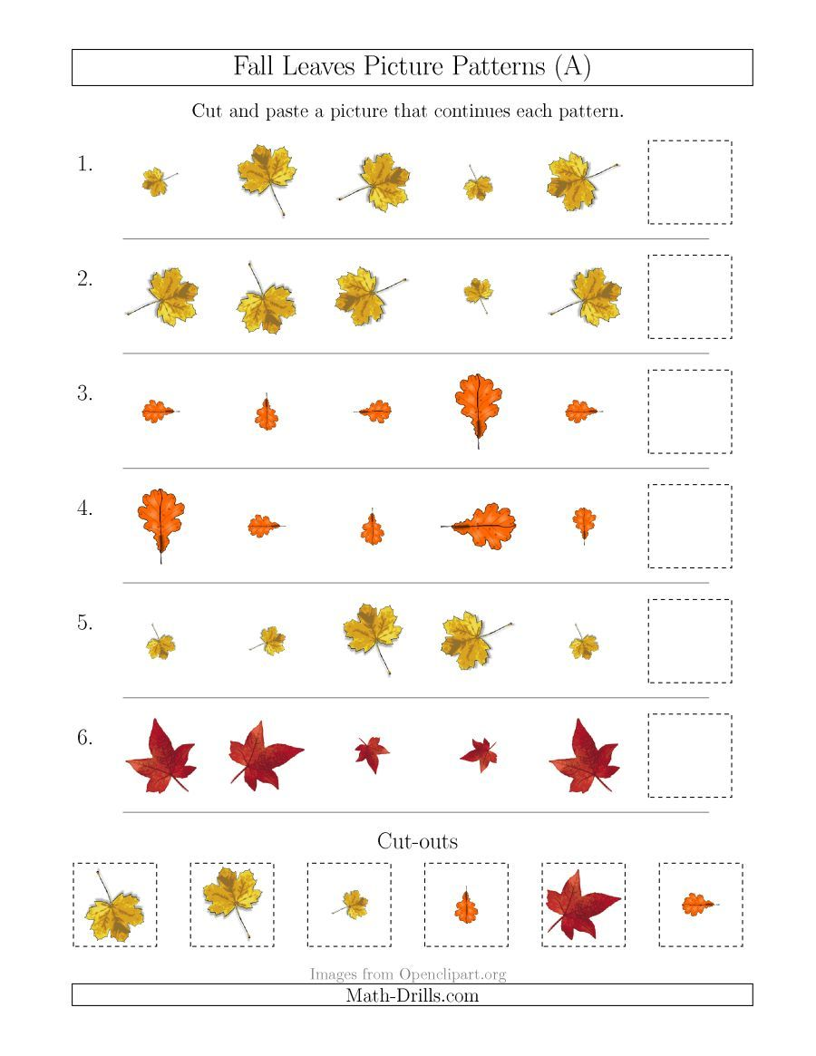 The Fall Leaves Picture Patterns with Size and Rotation Attributes ...