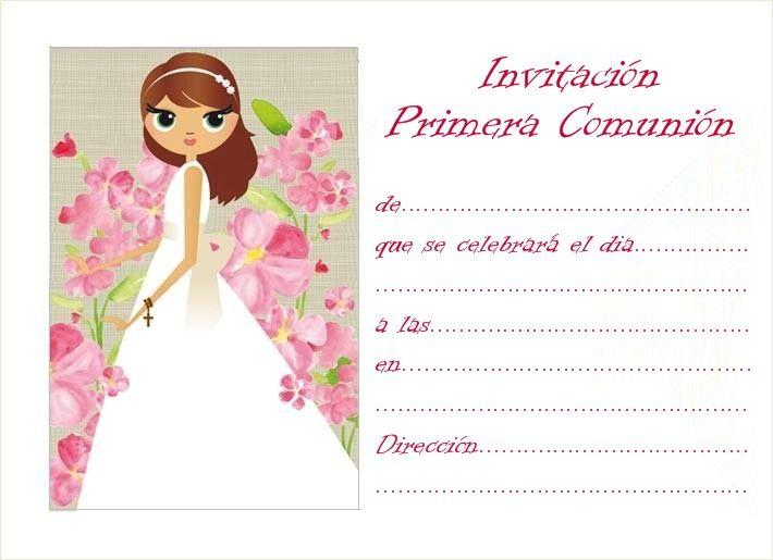 5f24a9a19754e Nuevas invitaciones de comunión para imprimir gratis