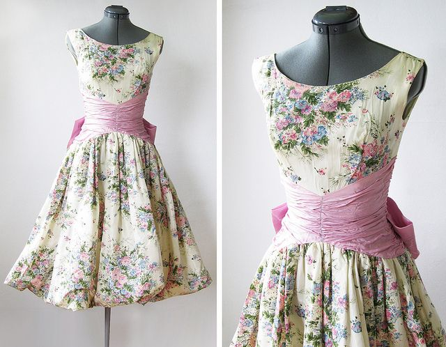 classy: vintage 50s spring garden party dress by rustbeltthreads ...