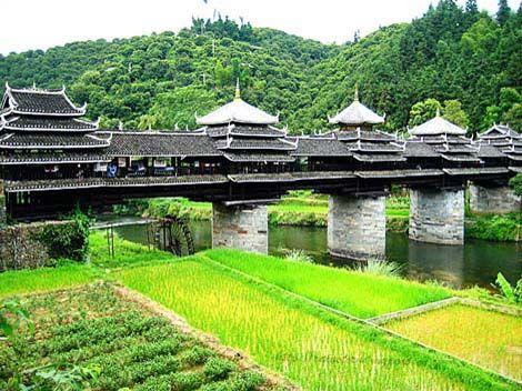 le pont de ch ngy ng galement appel le pont du vent et de la pluie de ch ngy ng le pont est. Black Bedroom Furniture Sets. Home Design Ideas