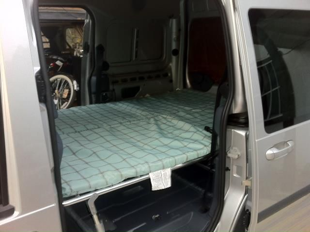 Ford Transit Connect 2 Coleman Camp Cots Fit Perfectly Camping