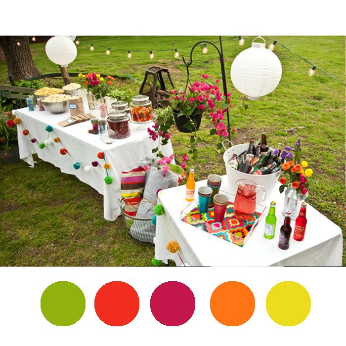 Tropical Beach Color Palette:  Color Palette From Prairie Hive Issue One Party