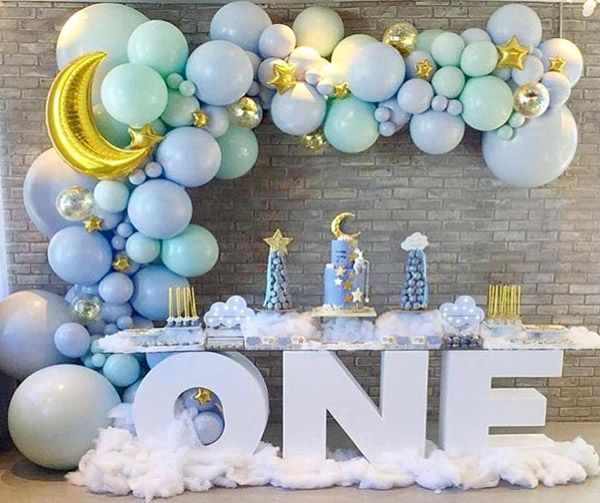 Birthday Balloon Decoration Ideas Birthday Balloon Decorations Baby Birthday Balloon Boy Birthday Decorations