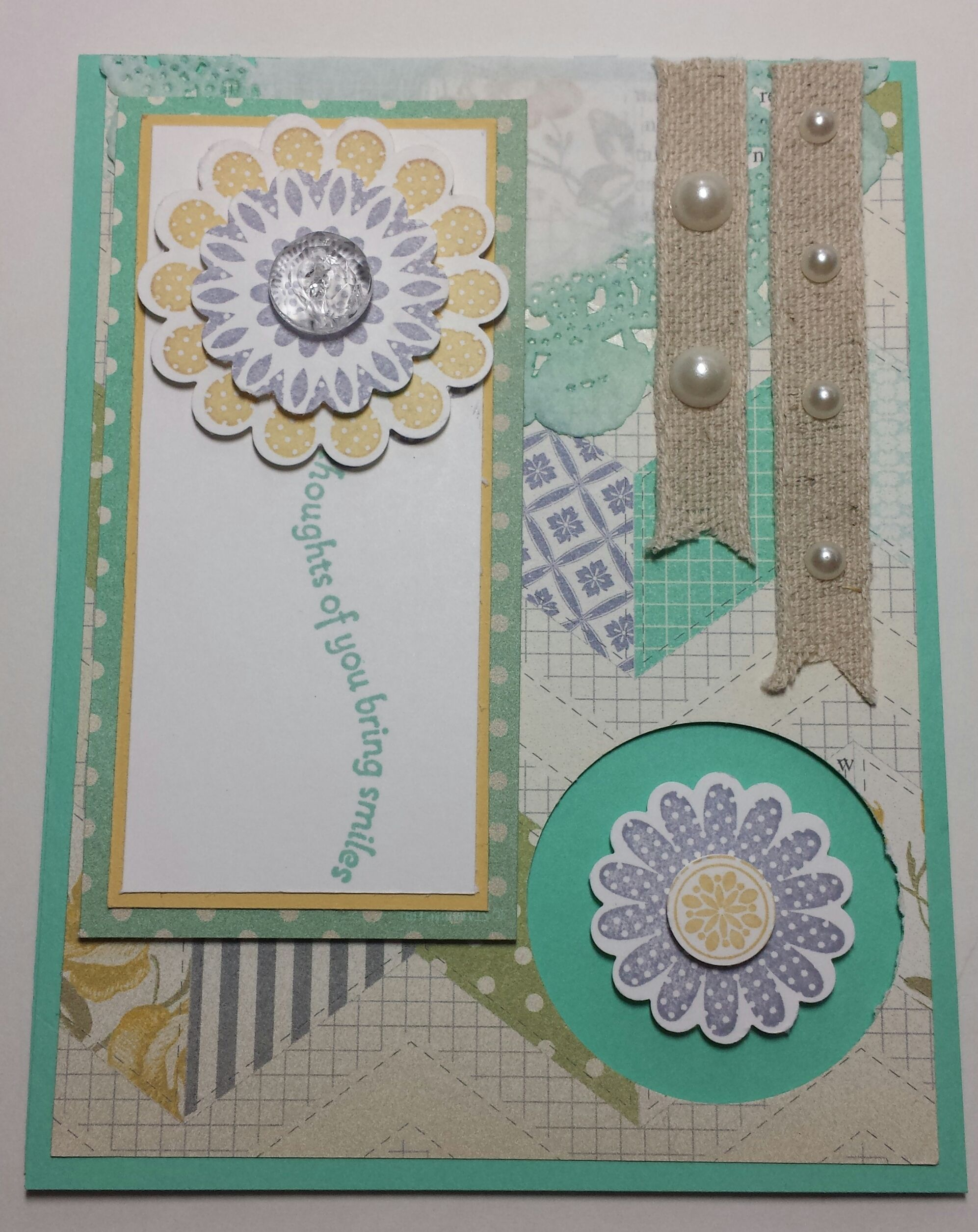 Card using the Polka Dot Pieces stamp set by Stampin' Up!