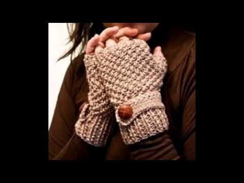 Moda a Crochet - Guantes para mujer en tejido crochet - YouTube ...
