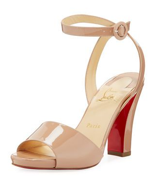 8ce18e07daa Havana Forties Patent Red Sole Sandal | Products | Sandals, Red sole ...
