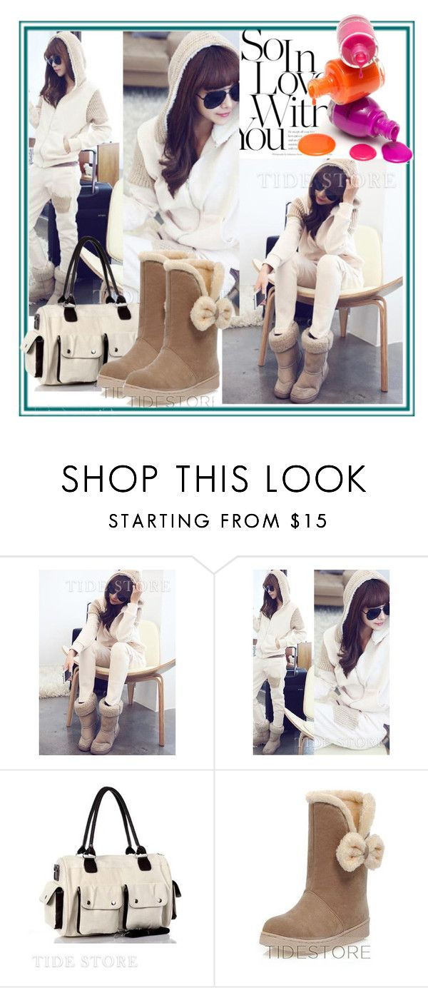 """""""Winter"""" by tidestore-club ❤ liked on Polyvore featuring Boots, bag, tidestore, fallwinter2015 and wintersuit"""