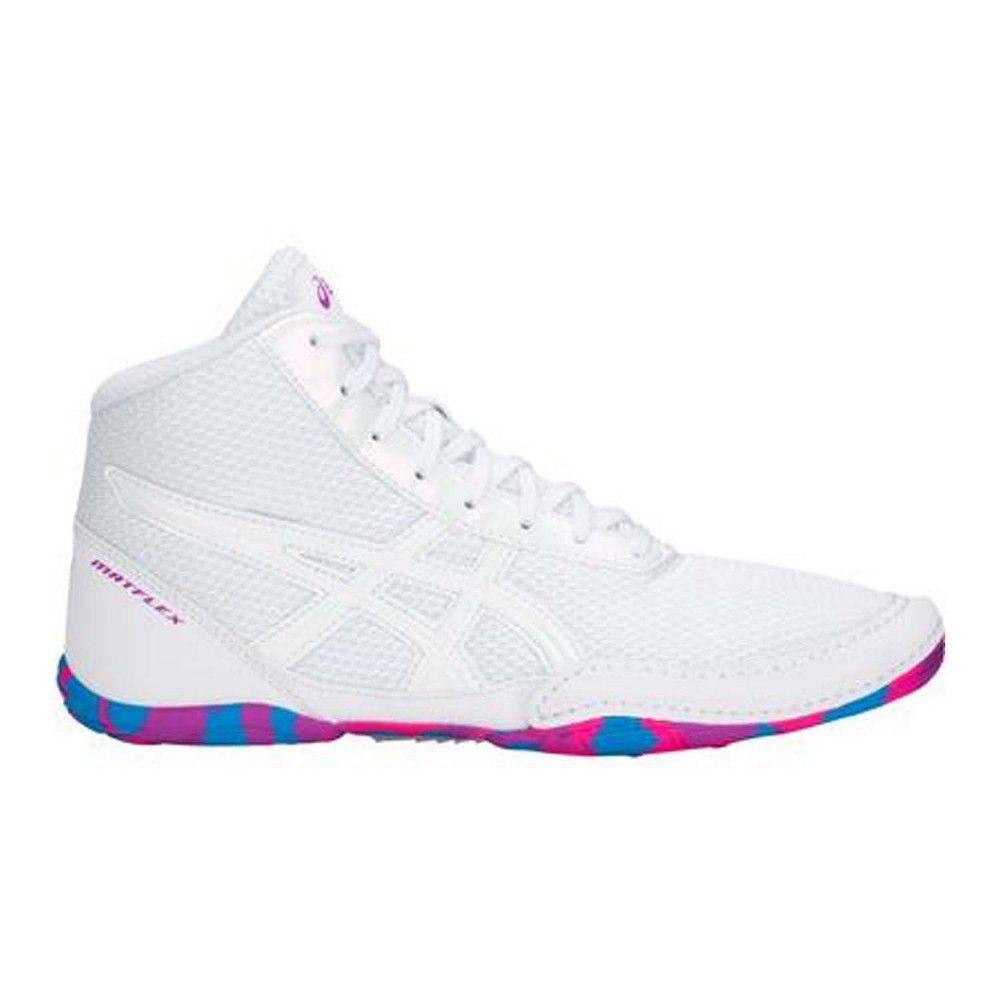 asics kids' matflex 5 wrestling shoes pink femme