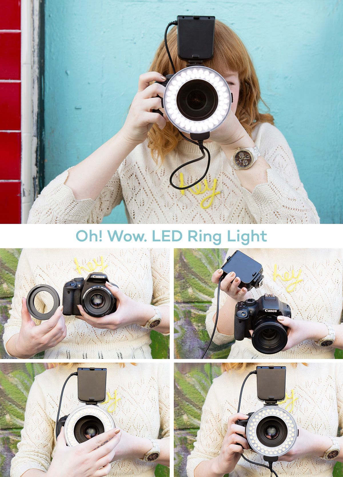 both nikon and canon versions of our popular led ring lights are in