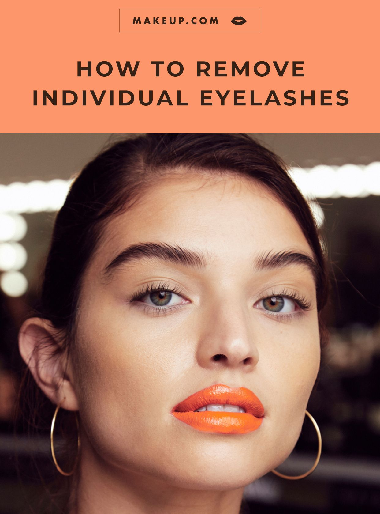 How to remove individual eyelash extensions at home