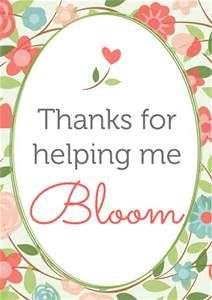 Thank You For Helping Me Bloom Free Printable Bing Images