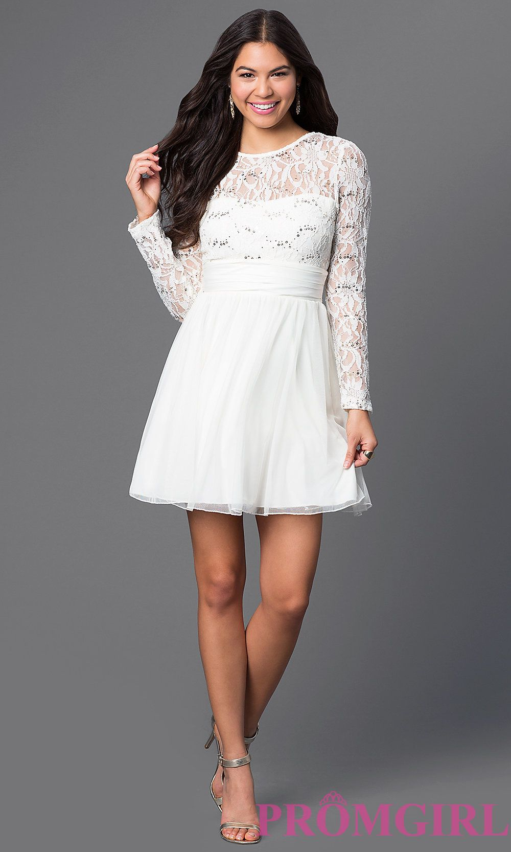 Cocktail dress long sleeves and shorts