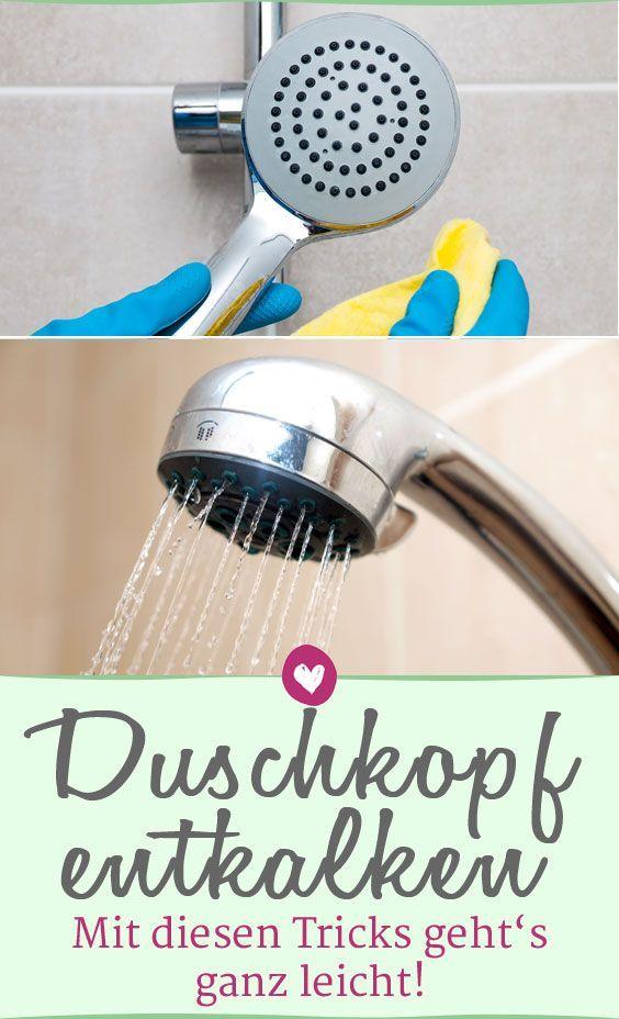 Duschkopf Entkalken Mit Diesen 3 Tricks Geht S Ganz Leicht Duschkopf Dusche Hausmittel