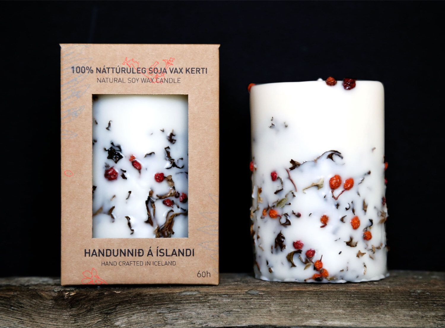 Genuine Icelandic Soy Wax Candle. Icelandic Moss and Rowan berry. Plant Candle. Apple/cinnamon scent. by Railis on Etsy https://www.etsy.com/listing/94885729/genuine-icelandic-soy-wax-candle