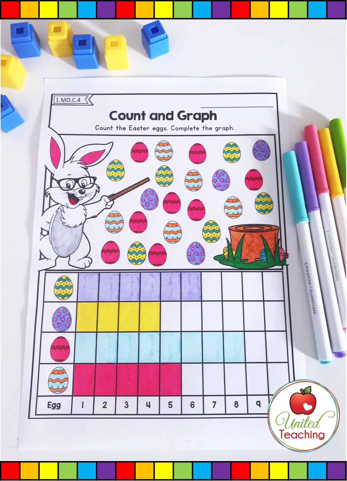 Easter Math Worksheets 1st Grade Distance Learning