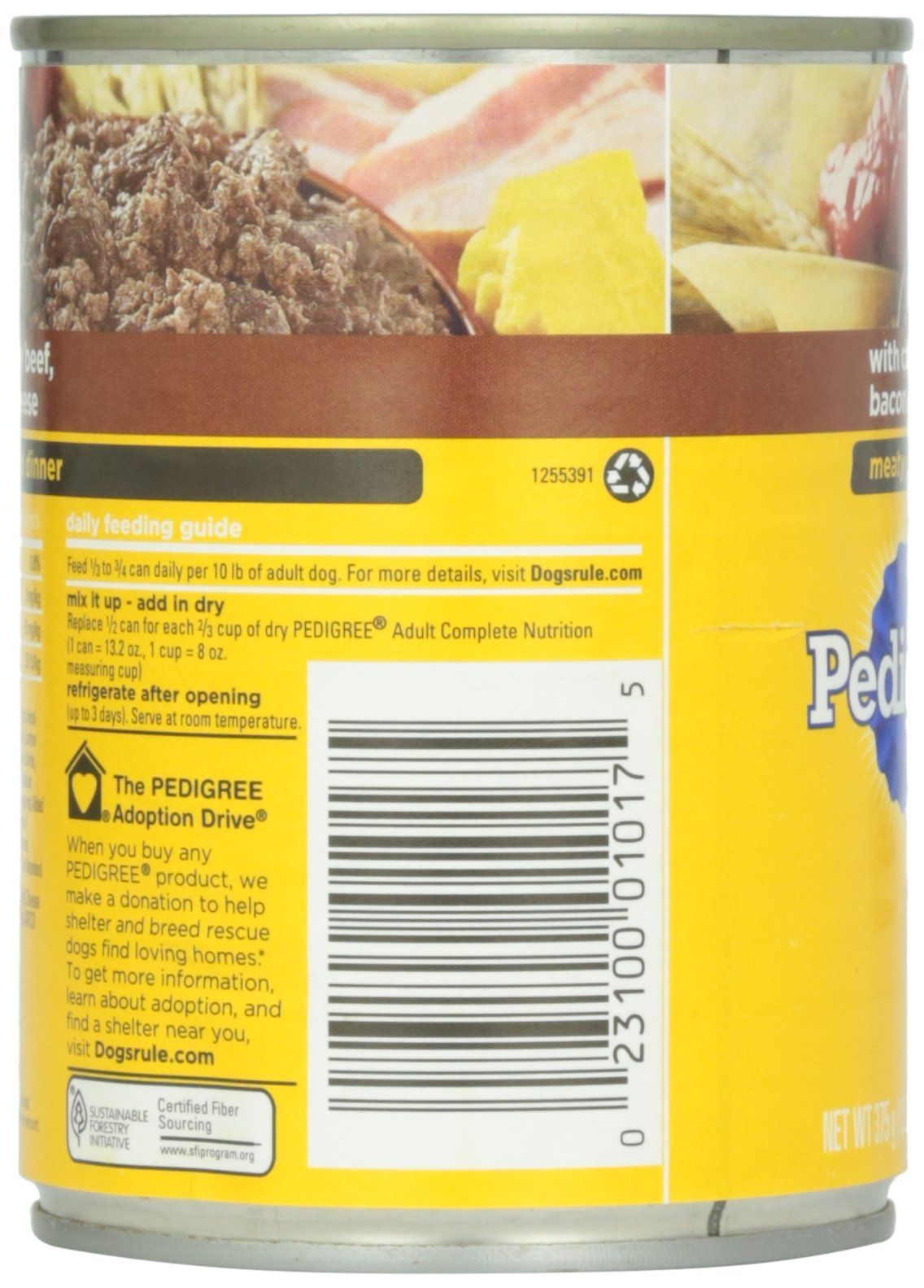 Pedigree Meaty Ground Dinner Variety Pack With Chicken And Bacon