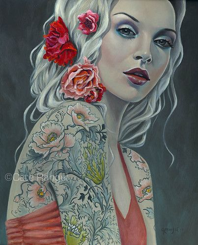 Nadine - Tattoo Woman by ~caterangel on deviantART