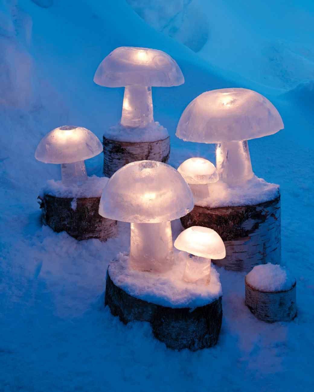 Ice Mushroom Lights Mushroom Lights Outdoor Christmas Decorations Ice Candle