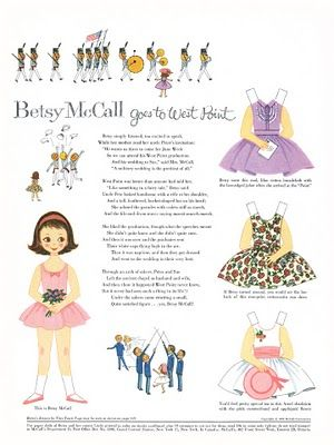 """Awww....""""Betsy McCall goes to West Point"""" Reminds me of ring weekend =)"""