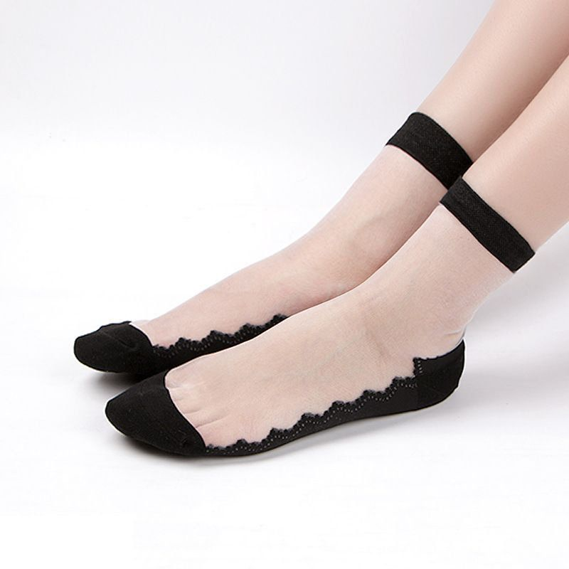 High Quality Fashion Women Silicone Lace Socks Non slip