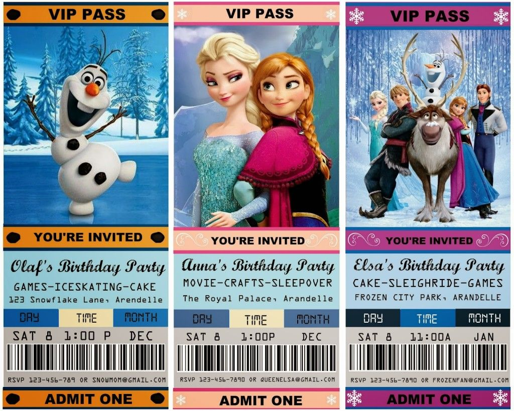 22+ Spectacular FROZEN Birthday Party Ideas   Free party invitations ...