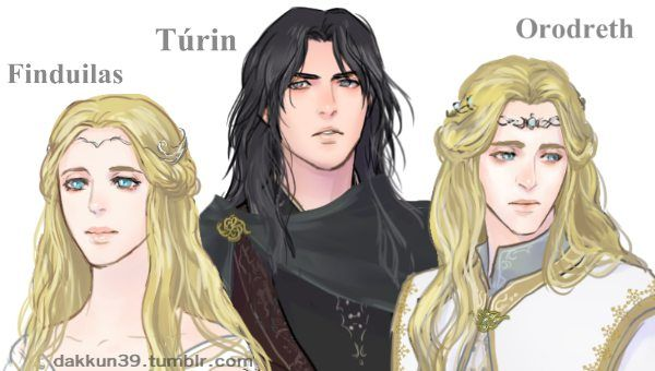 Finduilas her father orodreth and turin turambar by - Dessin seigneur des anneaux ...