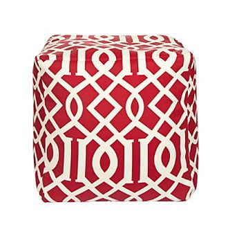 Chic Designs Square Edgy Pattern Pouf With Images Outdoor Pouf