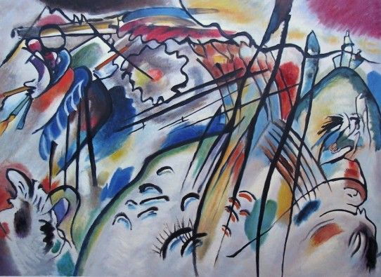 Wassily Kandinsky - Improvisation 28 Reproduction. Hand painted, oil on canvas.
