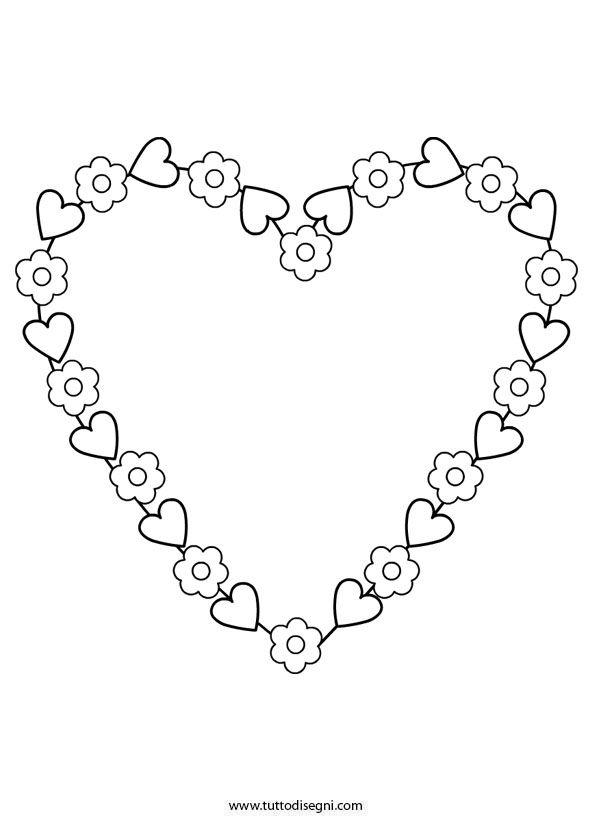 Ghirlanda cuori fiori 2 bricolage pinterest fiori for Disegni di cuori da stampare gratis