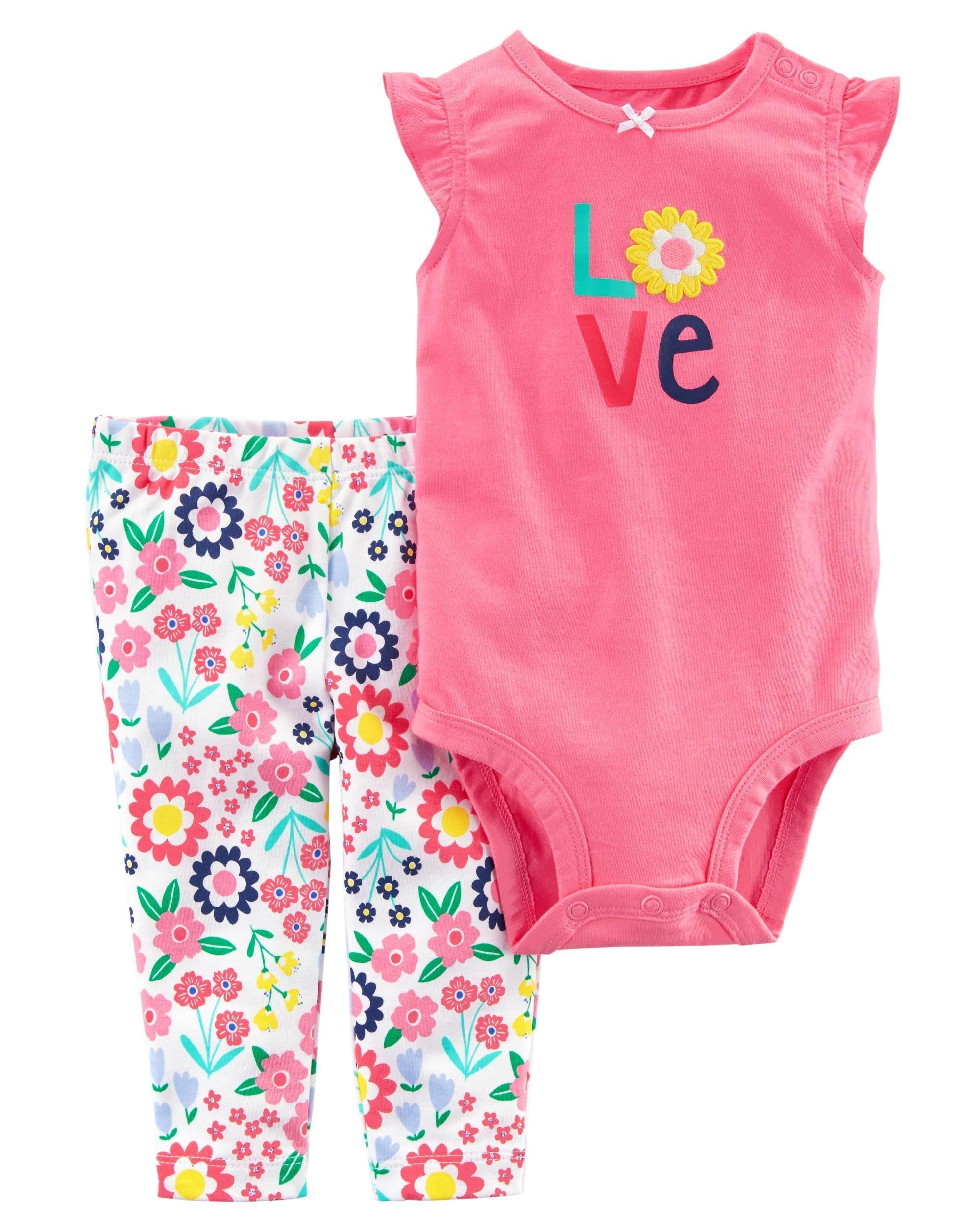 6966fa82c Baby Girl 2-Piece Bodysuit Pant Set   Carters.com   Future babygirl ...