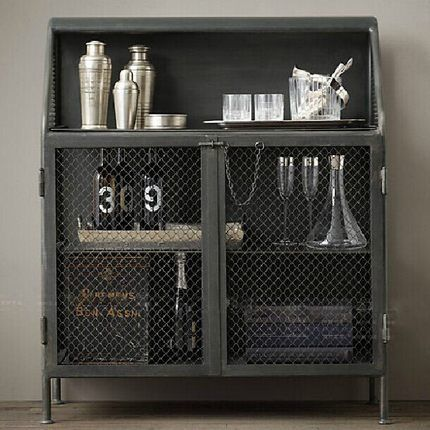 industrial loft-style wrought iron sideboard cabinet storage cabinets retro  to do the old metal