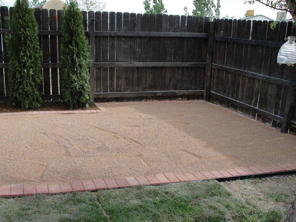 Pea Gravel Patio Diy : Compacted Gravel Patio Pea Gravel Patio on Pinterest