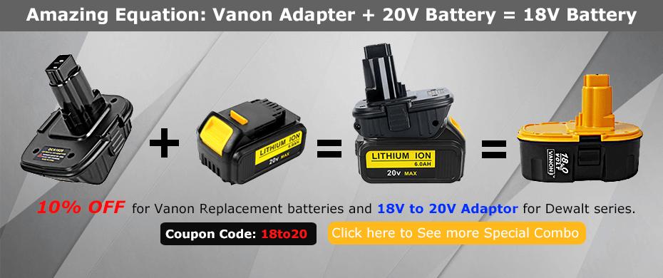 Power Tool Batteries Replacement Batteries Vanonbatteries Store Vanon Batteries Store Power Tool Batteries Dewalt Combo