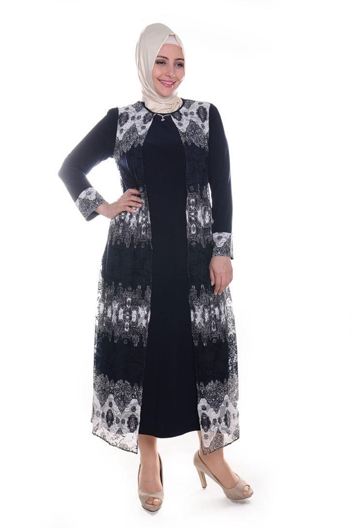 fefcb92f7723a Büyük Beden Tesettür Elbise Modelleri | Tesettür Giyim | Elbise ...